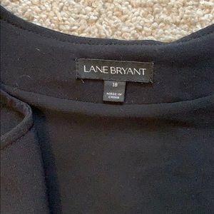 Lane Bryant Tops - Lane Bryant Blouse Zipper Closure Sheer Sleeves